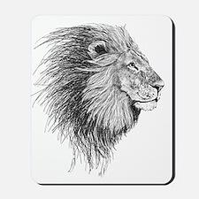 Lion (Black and White) Mousepad