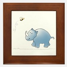 Rhino and Bee Framed Tile