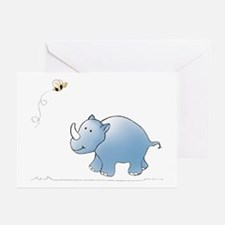 Rhino and Bee Greeting Cards (Pk of 10)