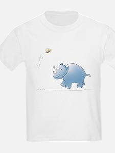 Rhino and Bee Kids T-Shirt