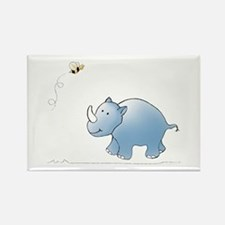 Rhino and Bee Rectangle Magnet