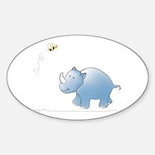 Rhino and Bee Oval Decal
