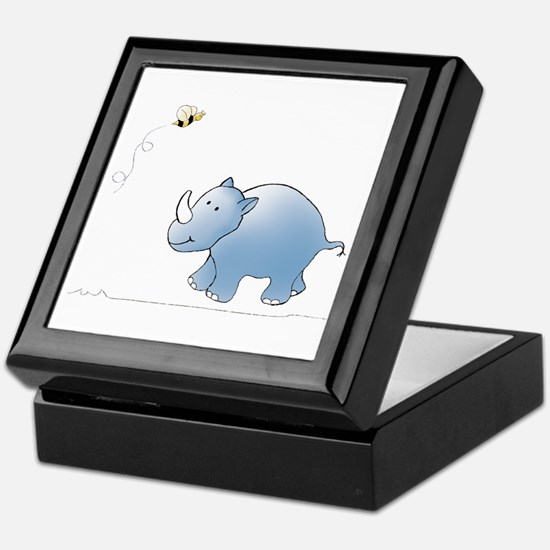 Rhino and Bee Keepsake Box