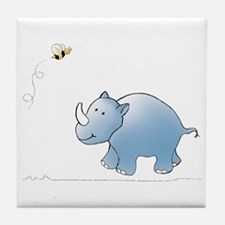 Rhino and Bee Tile Coaster