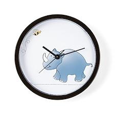 Rhino and Bee Wall Clock