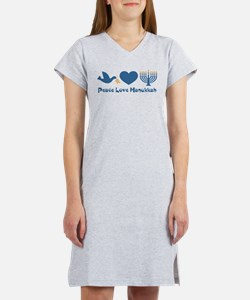 Peace Love Hanukkah Women's Nightshirt