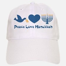 Peace Love Hanukkah Baseball Baseball Cap