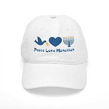 Peace Love Hanukkah Baseball Cap
