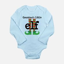 Grandma's Little Elf Long Sleeve Infant Bodysuit