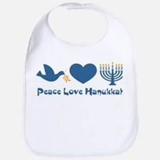 Peace Love Hanukkah Bib