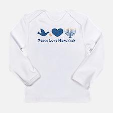 Peace Love Hanukkah Long Sleeve Infant T-Shirt
