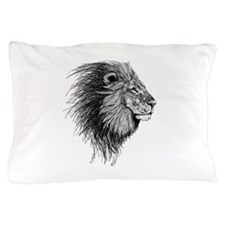 Lion (Black and White) Pillow Case
