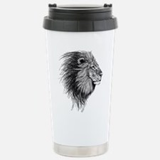 Lion (Black and White) Travel Mug