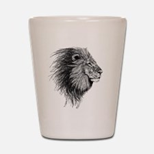 Lion (Black and White) Shot Glass
