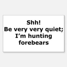 Hunting Forebears Rectangle Decal