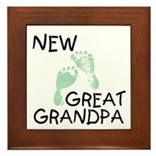 New Great Grandpa (green) Framed Tile