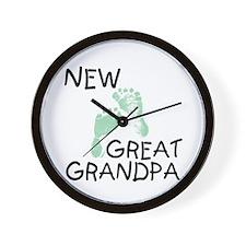 New Great Grandpa (green) Wall Clock