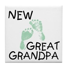 New Great Grandpa (green) Tile Coaster
