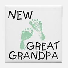 New Great Grandpa (green) Tile Coaster