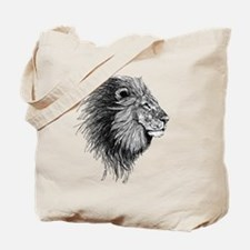 Lion (Black and White) Tote Bag