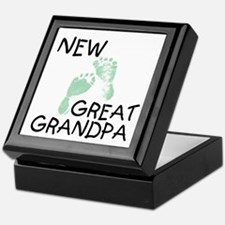 New Great Grandpa (green) Keepsake Box
