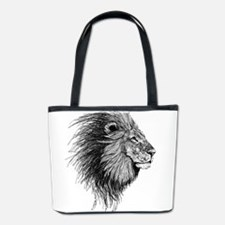 Lion (Black and White) Bucket Bag