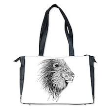Lion (Black and White) Diaper Bag