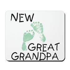 New Great Grandpa (green) Mousepad