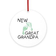 New Great Grandpa (green) Ornament (Round)