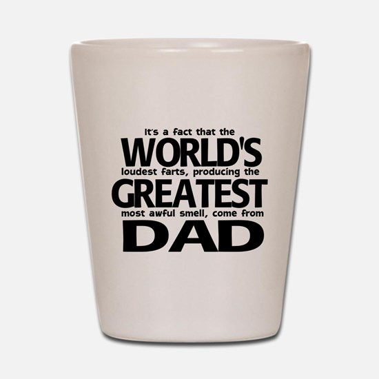 World's Greatest Dad Shot Glass