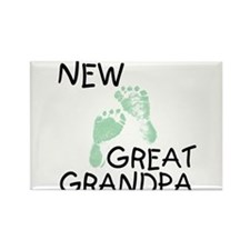 New Great Grandpa (green) Rectangle Magnet