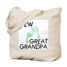 New Great Grandpa (green) Tote Bag