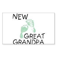 New Great Grandpa (green) Rectangle Decal