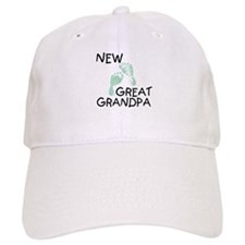 New Great Grandpa (green) Baseball Cap