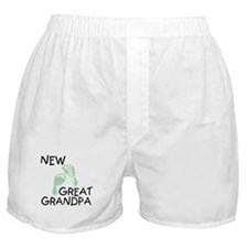 New Great Grandpa (green) Boxer Shorts