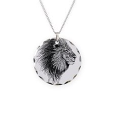 Lion (Black and White) Necklace