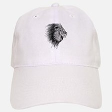 Lion (Black and White) Baseball Baseball Cap