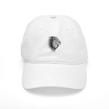 Lion (Black and White) Baseball Cap