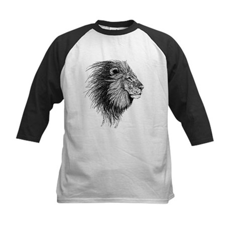 Lion (Black and White) Baseball Jersey