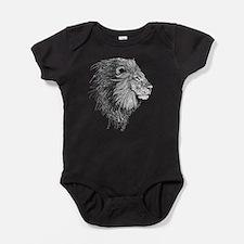 Lion (Black and White) Baby Bodysuit