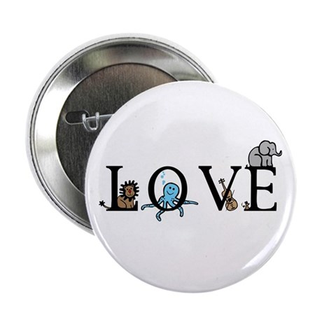 """Love 2.25"""" Button (100 pack)"""