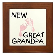 New Great Grandpa (pink) Framed Tile