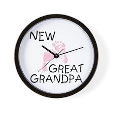New Great Grandpa (pink) Wall Clock