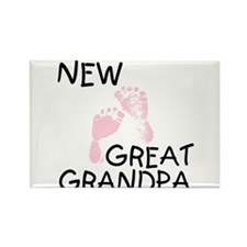 New Great Grandpa (pink) Rectangle Magnet