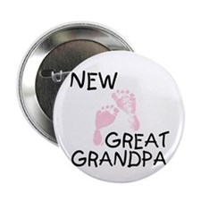 """New Great Grandpa (pink) 2.25"""" Button (10 pack)"""