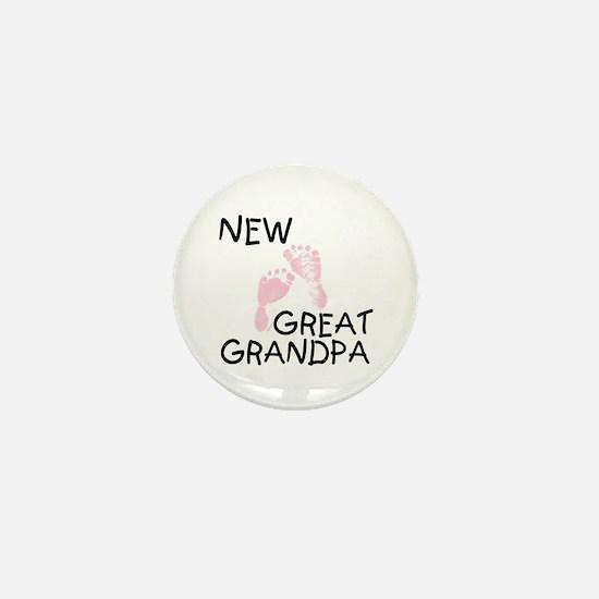 New Great Grandpa (pink) Mini Button