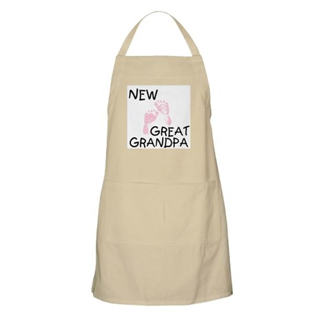 New Great Grandpa (pink) BBQ Apron