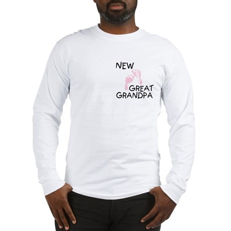 New Great Grandpa (pink) Long Sleeve T-Shirt