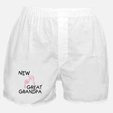 New Great Grandpa (pink) Boxer Shorts