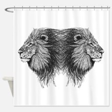 Twin Lion Shower Curtain